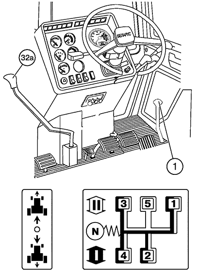Схема переключения передач мтз 1221